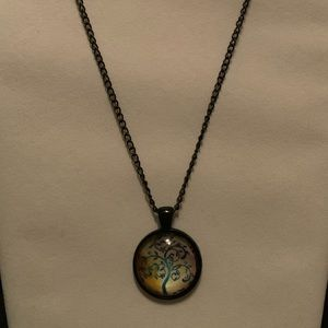Tree Of Life Necklace Black